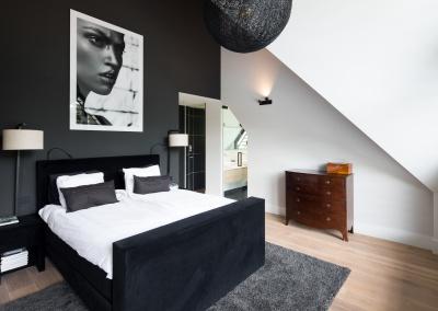 Interieur Buro Go Master bedroom zwart wit dromen